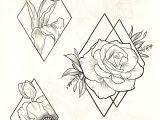 Flowers Geometric Drawing Pin by Estaodio Allano Tattoo On Floral Pinterest Tattoo