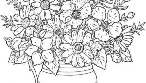 Flowers Vase Drawing with Colour Fresh Flowers to Color Creditoparataxi Com