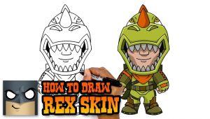 Fortnite Drawings Easy Llama How to Draw Rex Skin fortnite Art Tutorial Youtube