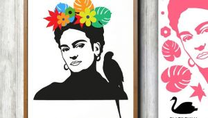 Frida Kahlo Drawings Easy Pin by Leeann Chang On Vinyl Creations Simple Illustration