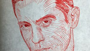 G Eazy Drawings G Eazy Red Pen Drawing Avb Artistry Drawings Art English Projects