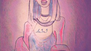 Girl Aesthetic Drawing Drawing Girl Black Illustration Art Aesthetic Black