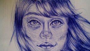 Girl Drawing Pic Girl Drawing Haare Zeichnen Und Zeichnen