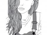 Girl Drawing Pinterest Pin by Nimra On Sketches Tumblr Outline Girl Outlines