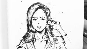 Girl Sketch Drawing Girl Sketch by Manchiart Girl by Manchiart Dailydrawing