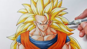 Goku Super Saiyan 3 Drawing Easy How to Draw Goku Super Saiyan 3 Step by Step Tutorial