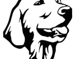 Golden Retriever Drawing Easy Free Golden Retriever Svg Image Stencils Dogs Golden
