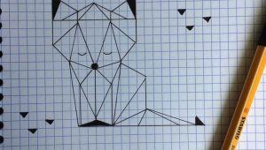 Graph Drawing Easy Teach Kid Make A Fox with Triangle Fox Kid Teach