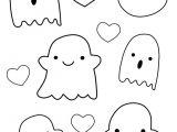 Halloween Drawing Ideas Easy Kawaii Ghost Outlines Halloween Drawings Halloween Doodle