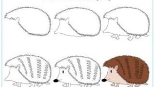 Hedgehog Drawing Easy Learn to Draw A Hedgehog Carly In 2019 Drawing Lessons
