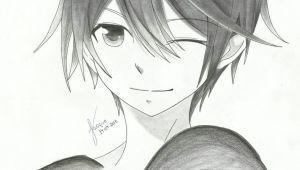 How to Draw A Cute Anime Boy Winking Anime Dude O Cute Anime Boy Boy Drawing