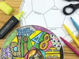 How to Draw A Football Easy Back to School Fun Art All About Me soccer Ball Doodle