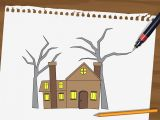 How to Draw A Haunted House Easy 41 Abiding How to Draw House