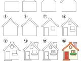 How to Draw A Haunted House Easy How to Draw A House Step by Step Cheapcarfinance Co