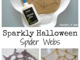 How to Draw A Spider Web Easy Sparkly Halloween Spider Webs Easy Halloween Crafts