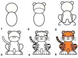 How to Draw A Tiger Face Easy How to Draw A Tiger Animal Drawings Tiger Drawing Drawings