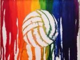 How to Draw A Volleyball Easy Crayon Rainbow Volleyball Art Cool if You Like Doing