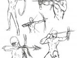 How to Draw An Easy Bow Poses for Dakota when She Uses Her Bow Reference Art