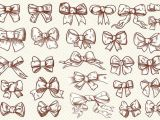 How to Draw An Easy Bow Vintage Bow Clip Art Collection by Digital Art Shop On