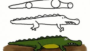 How to Draw An Easy Crocodile How to Draw Funny Cartoon Animal Easy Way How to Draw