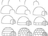 How to Draw An Igloo Easy How to Draw A Igloo Drawings Easy Drawings Art Drawings