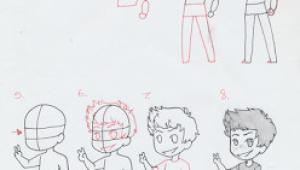 How to Draw Anime Child Manga Interest Chibi Boy Standing How to Draw A Chibi Boy