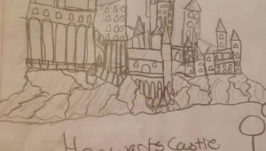 How to Draw Harry Potter Hogwarts Castle Easy A D D D My Drawing Of Hogwarts Castled D D D Harry