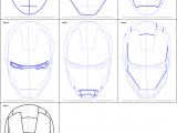 How to Draw the Infinity Gauntlet Easy How to Draw Iron Man S Helmet Printable Step by Step Drawing
