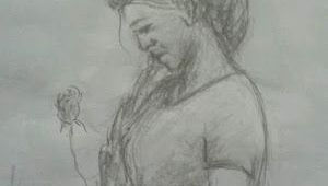 I M Drawing A Picture Shiju M Drawings She Love Flowers Drawing My Pencil Drawings