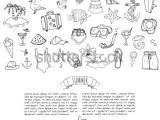 I M Drawing Symbols In the Sand Hand Drawn Doodle Summer Set Icons Stock Vector Royalty Free