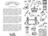 I M Drawing Symbols In the Sand Hand Drawn Doodle United Kingdom Set Vector Illustration Uk Icons