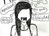 I M Fine Drawing Tumblr 23 Best Depressing Things to Draw Images Drawings Sad Drawings