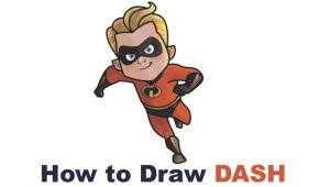 Incredibles 2 Easy Drawings How to Dash From the Incredibles Part 4 Of Drawing the Incredibles