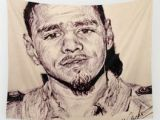 J Cole Drawing Easy J Cole Wall Tapestries society6