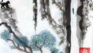 Jaguar Drawing Ideas Jaguar Jungle original Sumi E or Chinese Brush Painting by Aelwyn