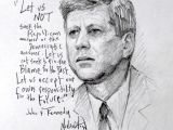 John F Kennedy Drawing Easy Jfk Drawing Free Download On Ayoqq org