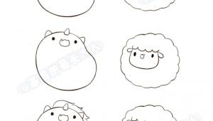 Kawaii Easy Cute Animal Drawings Unicorn Sheep Animal Drawings Ideias Para Desenho