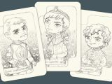 L Drawing Card Draft for Playing Cards Game Of Thrones Cersei Jaime and Tyrion