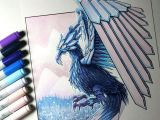Lethalchris Drawing Dragons Ice Phoenix Drawing by Lethalchris Dragon Pinterest Drawings