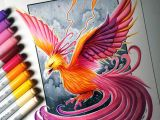 Lethalchris Drawing Dragons Phoenix Drawing by Lethalchris Sketching Coloring In 2019