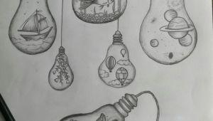 Light Bulb Easy Drawing Light Bulb Drawings Bulbs Zeichnungen Gluhbirne