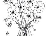 Line Drawing Flowers In Vase Printable Flower Coloring Pages Unique Cool Vases Flower Vase