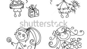 Line Drawing Girl Flowers Flower Line Drawing Stock Photos Images Pictures Shutterstock