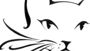 Line Drawing Of A Cat Face Cat Outline Cheek Arm Design Ae Ae Pinterest Cats Cat Drawing