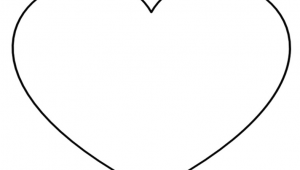 Line Drawing Of A Love Heart Super Sized Heart Outline Extra Large Printable Template I Love