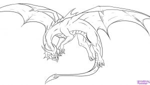 Line Drawings Of Dragons Awesome Drawings Of Dragons Drawing Dragons Step by Step Dragons