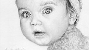 Little Baby Girl Drawing Kid Baby Girl Child Drawing Art Realism Cute Pretty