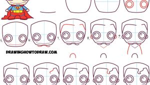Nerf Drawing Easy How to Draw Cute Chibi Superman From Dc Comics In Easy Step