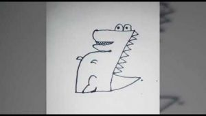 Number 7 Cartoon Drawing D How to Draw Crocodile Od Number 7 D Youtube