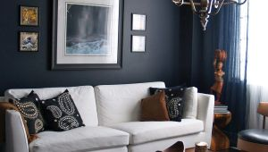 P S Drawing Room 15 Beautiful Dark Blue Wall Design Ideas Living Room Designs